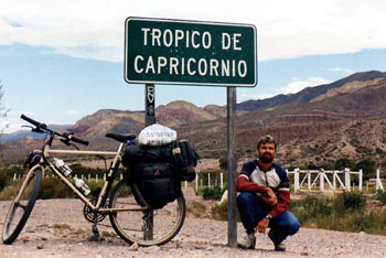 Crossing the Tropic of capricorn in Argentina
