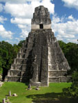 Mayan pyramid at Tikal in Guatemala, Central America